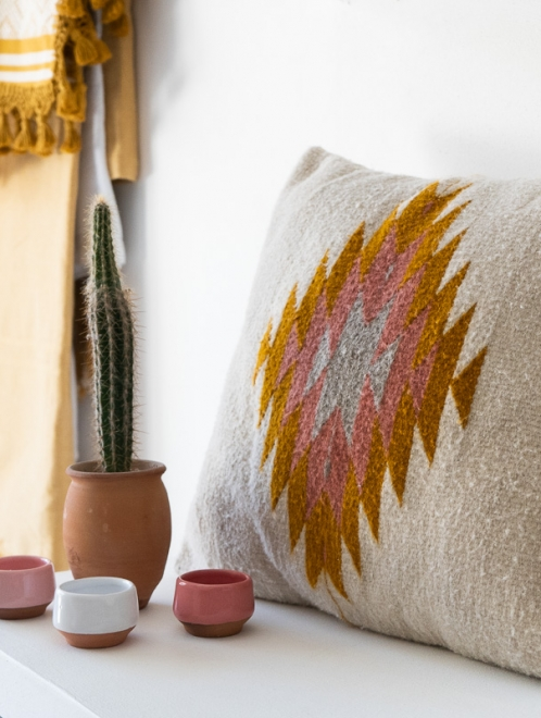 Zapotec Diamond Handmade Cushion | Dawn