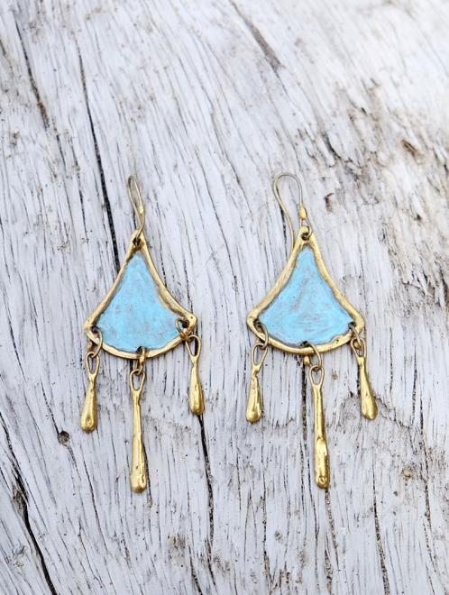 Tahua Handmade Bronze Earrings
