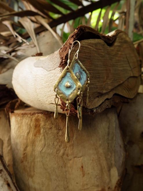 Tonali Handmade Bronze Earrings