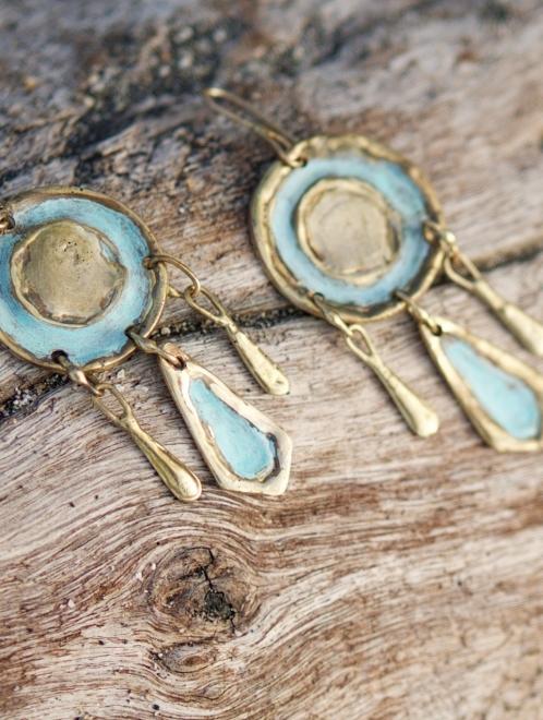 Tonatiuh Handmade Bronze Earrings
