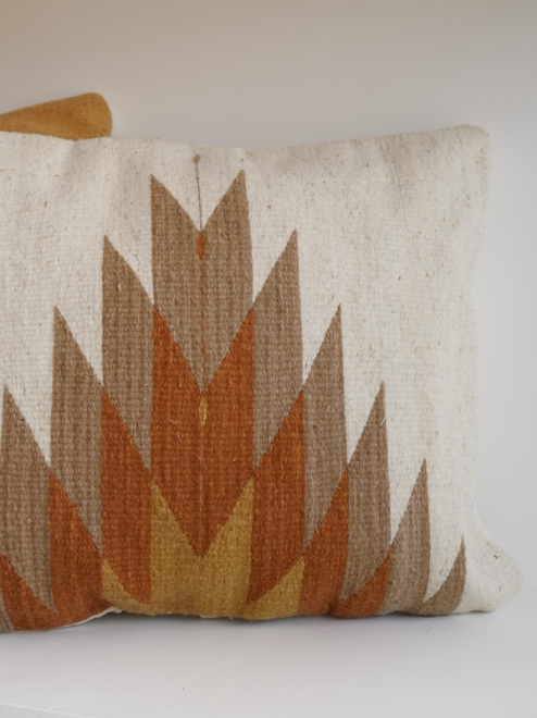 Relampago Mexican Pillow   Natural With Clay Tones