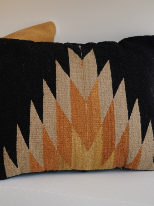 Relampago Mexican Pillow | Black +  Clay Tones