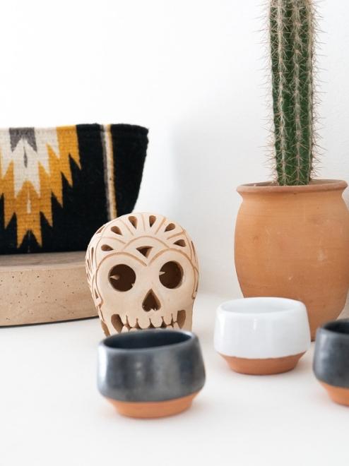 Handmade Mexican bag | Noir + Ochre