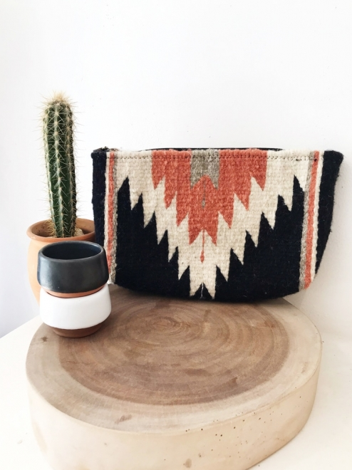 Zapotec Diamond Clutch in Desert Rose
