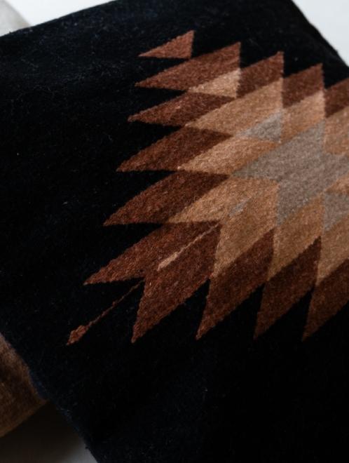 Zapotec Diamond Handmade Cushion | Natural + Blush + Desert Rose